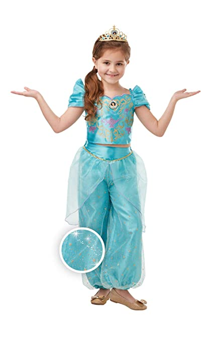 Rubies Disfraz oficial de princesa Disney Jasmine Aladdin ...