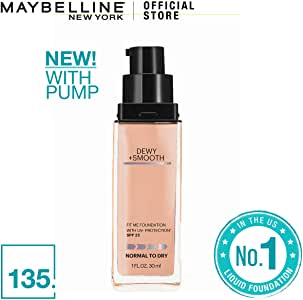 Maybelline Fit Me Dewy+Smooth Foundation SPF (Pump), 20 grams