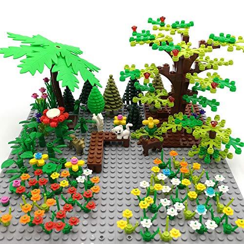SPRITE WORLD Botanical Brick Block Building Set Toy Plant Tree Flower Garden Park Part Accessories ()