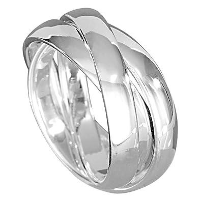 Ringe silber  Vinani 3er Ring massiv glänzend 3 Ringe beweglich Sterling Silber ...