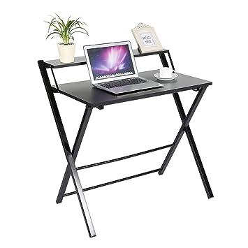 Escritorio plegable para Computadora Home Office Laptop PC Estación de trabajo Niños Estudio Mesa de Escritura Fácil de Plegar: Amazon.es: Oficina y ...