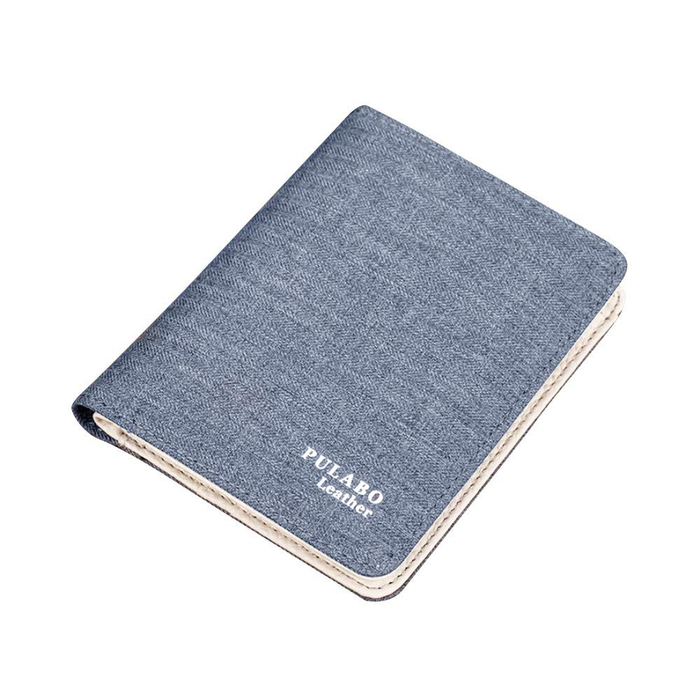 Men Short Wallet Vibola Wanvas Leather Card Holders Zipper Wallet Fashion Church