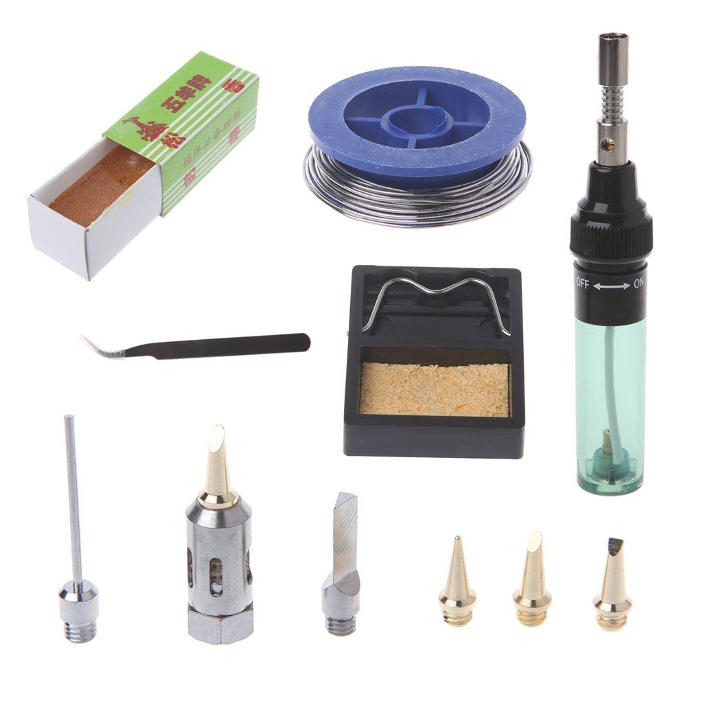 Bottone 11 Pcs MT-100 Tool Cordless Butane Gas Soldering Iron Gun Blow Torch Welding Pen