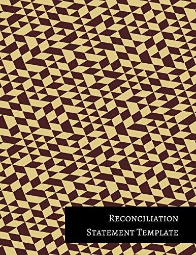 Reconciliation Statement Template PDF