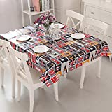 Vinylla London Icons Skin Easy Wipe Clean PVC Tablecloth Oilcloth, Small by Vinylla
