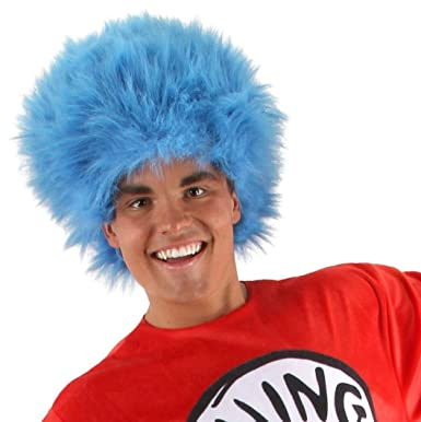Elope Dr Seuss Thing 1 Thing 2 Blue Fuzzy Wig for Women   Men ... 5af9a44e07