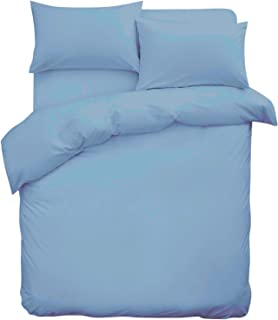 Plain Dyed Turquoise Blue Duvet Cover Set  Single,Double,King Pillow Cases