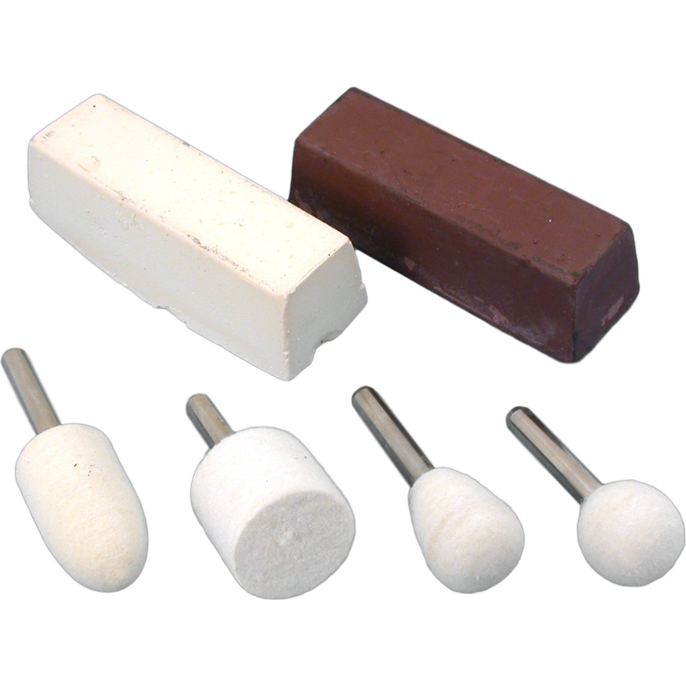 4 Felt Buffs Rouges Jewelers Polishing Rotary Tools