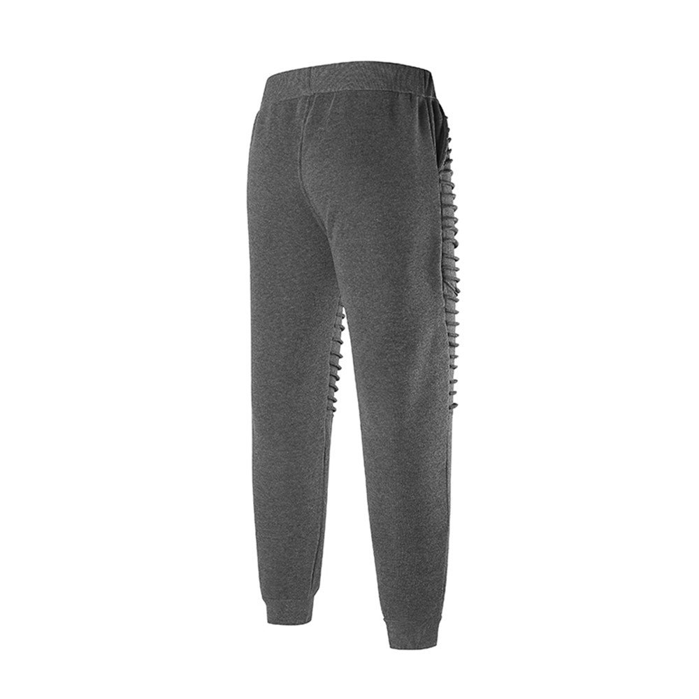 Spbamboo Mens Fashion Pants Sports Striped Lashing Belts Casual Solid Sweatpants by Spbamboo (Image #4)