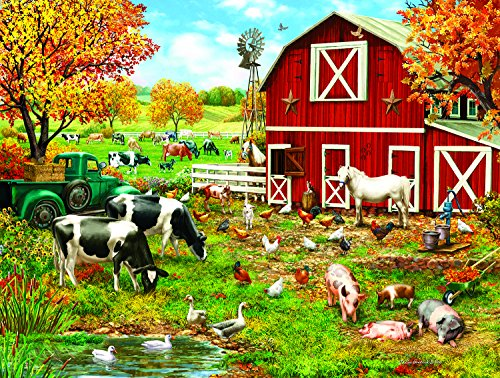 A Day on the Farm 300 Piece Jigsaw Puzzle by SunsOut