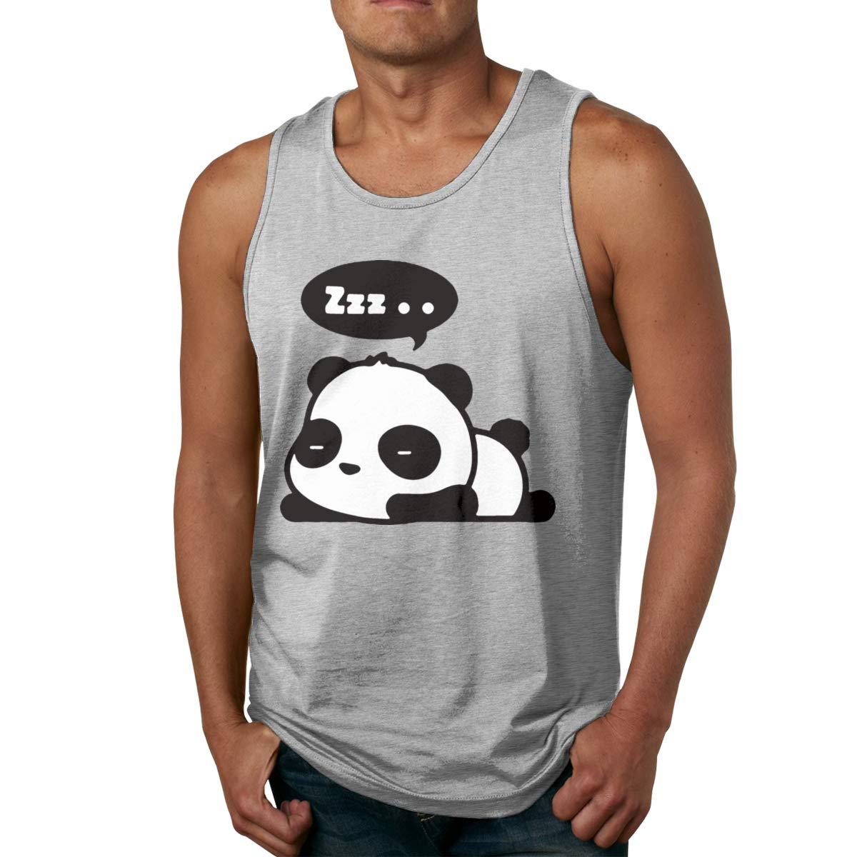 Seuriamin Sleeping Panda Cute Summer Tennis Sleeveless Tank Top T Shirt