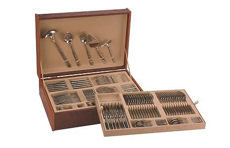 Monix Zurich - Set 113 piezas cubiertos de acero inox 18/10 con cuchillo chuletero