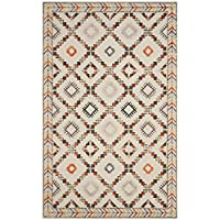 Safavieh Bellagio Collection BLG548A Ivory and Multi Premium Wool Area Rug (5 x 8)