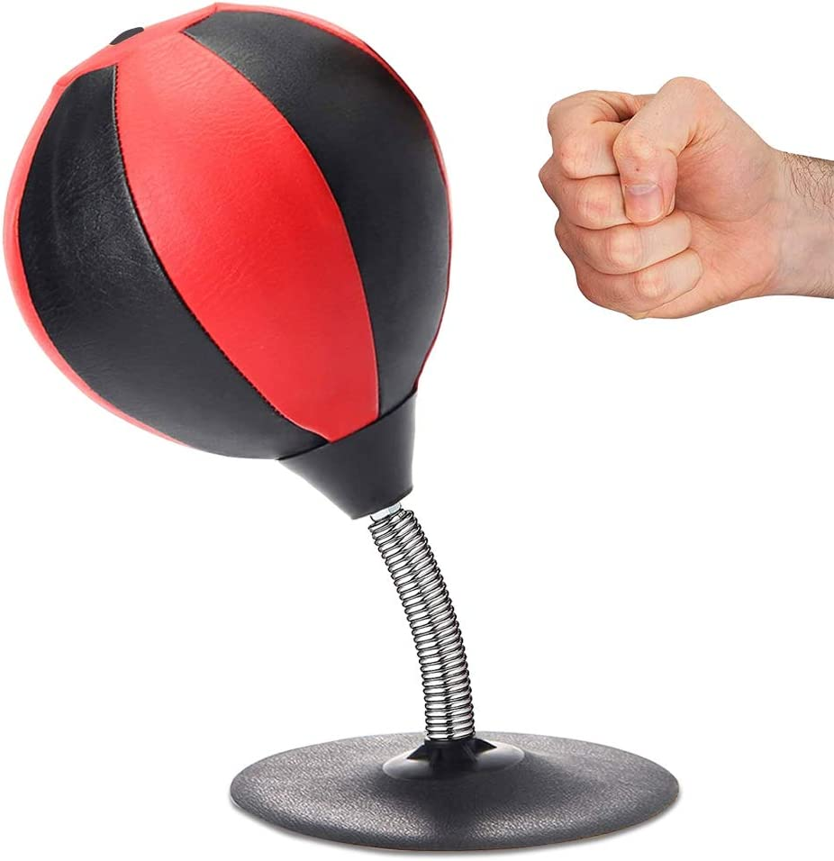 YANXUS Desktop Punching Bag with Strongest Suction Cup Boxing Punching Bag Stress Relief Desktop Punching Ball Reflex Bag Stress Relief Gift