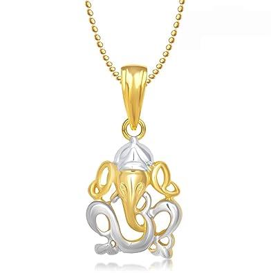 Meenaz om ganesha ganpati pendantlocket gold plated cz with chain meenaz om ganesha ganpati pendantlocket gold plated cz with chain in god pendant in aloadofball Gallery