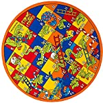 Kids / Baby Room / Daycare / Classroom / Playroom Area Rug Animals Numbers Ladders Crocs Snakes Fun Educational Play Mat Non-Slip Gel Back Bright Colorful Vibrant Colors