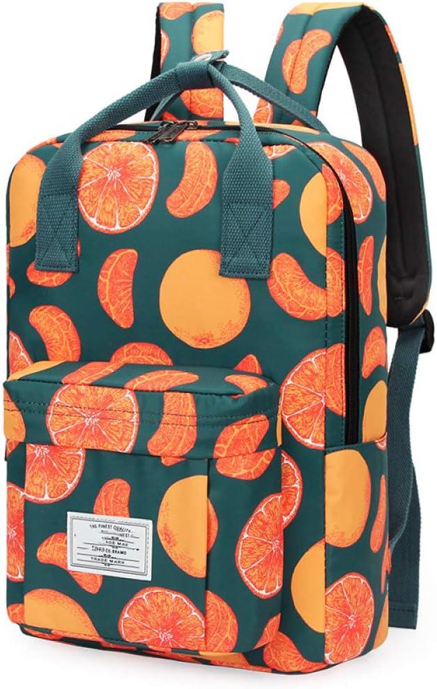 ZXHDP - Mochila Moderna para Mujer, Colegio, Adolescente, Mochila de Tela, Mochila para Mujer, Mochila para Ordenador portátil, 43 cm x 33 cm x 14 cm, Color Naranja