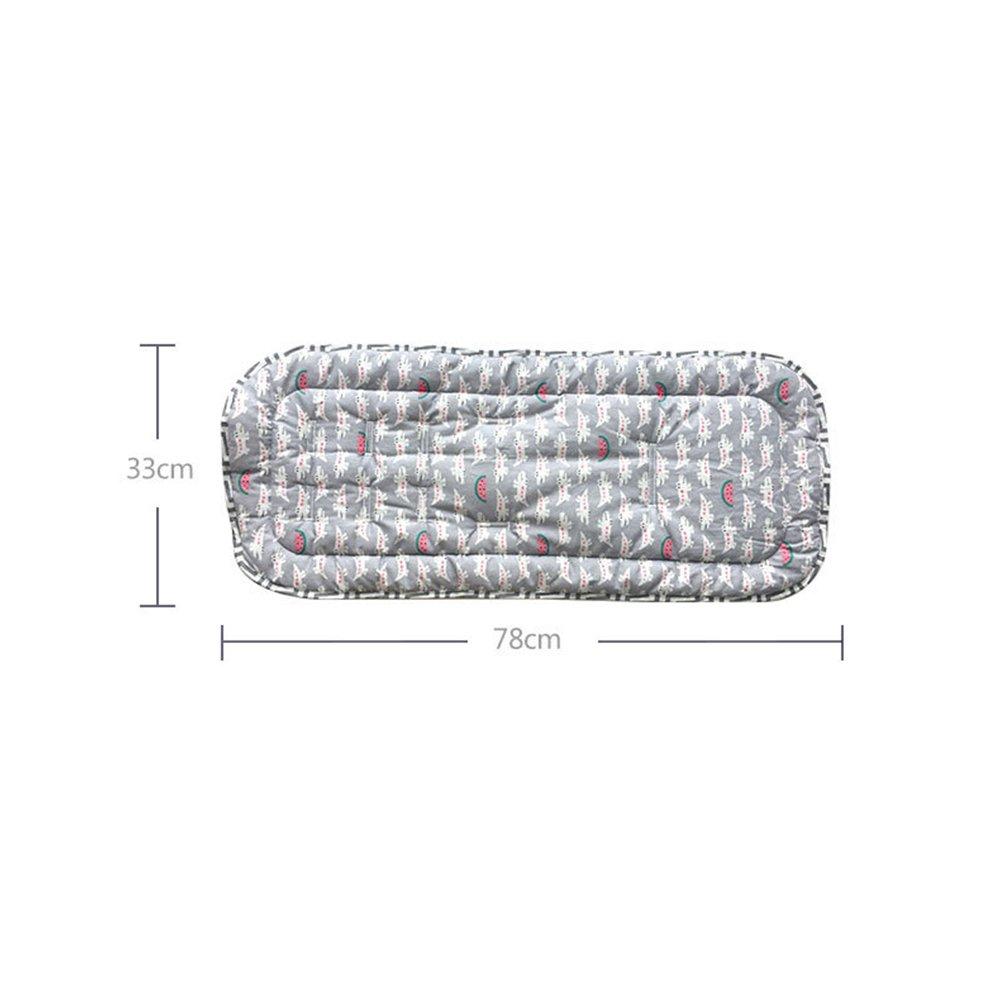 Cocodrilo rojo Revestimiento reversible universal del asiento del beb/é del algod/ón puro para el cochecito asiento de carro beb/é coj/ín Pad