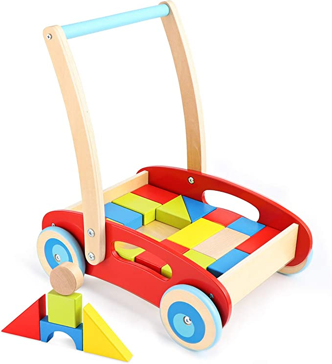 Wooden baby Walker Hand made baby toys baby gift easy walk for babies natural hornbeam wood