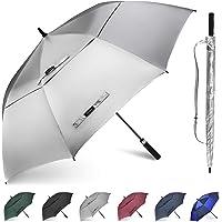 Gonex Paraguas de Golf Resistente al Viento para Hombres y Mujeres, Paraguas Abierto automático, de 62/68 Pulgadas con…