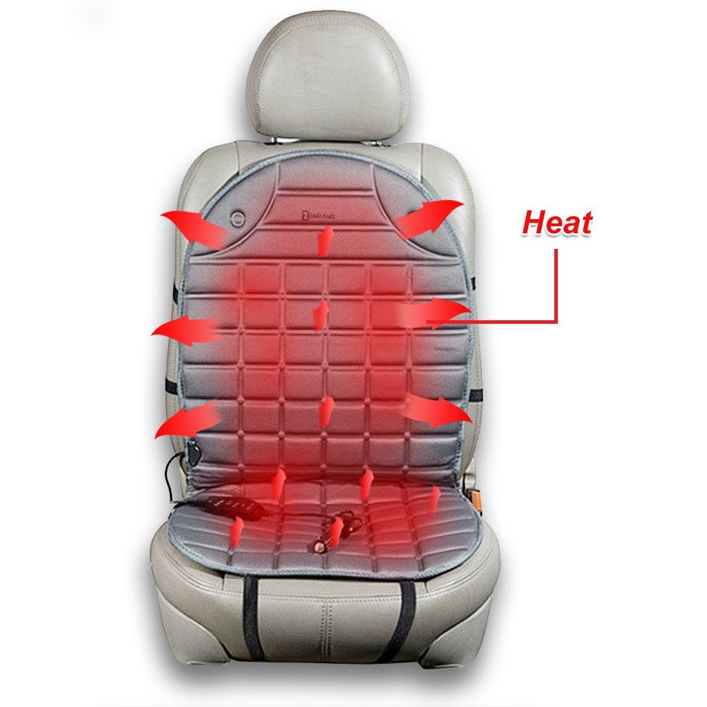 Zento Deals Gray Warm Vehicle Cushion Heated Car Seat
