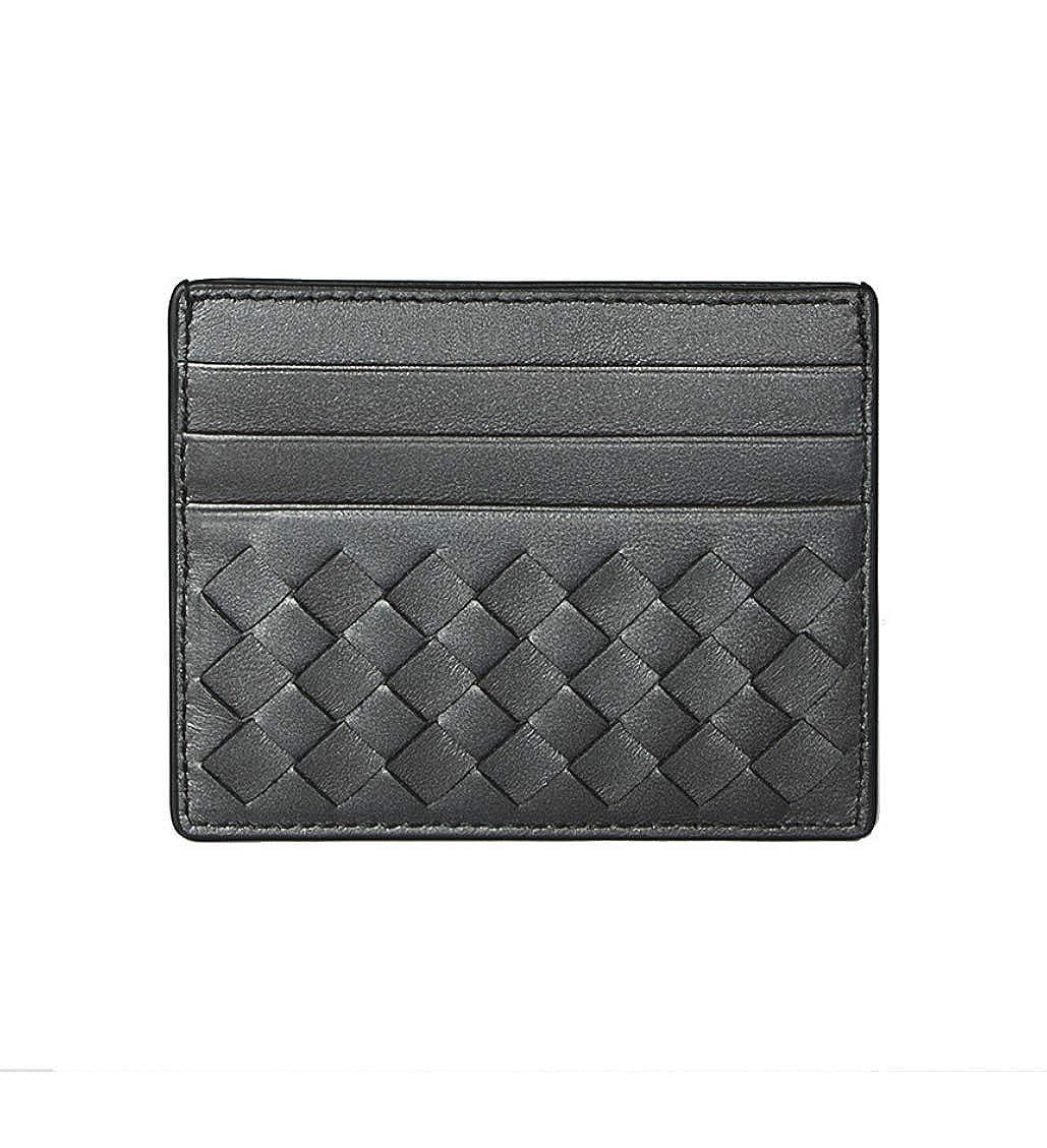 db49438d96e09 Bottega Veneta Wallet Intrecciato Leather Credit Card Holder Antique Silver  Grey at Amazon Men's Clothing store: