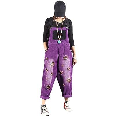 Bigassets Mujer Pantalones Petos Sin Mangas Monos Style 3 Purple: Ropa y accesorios