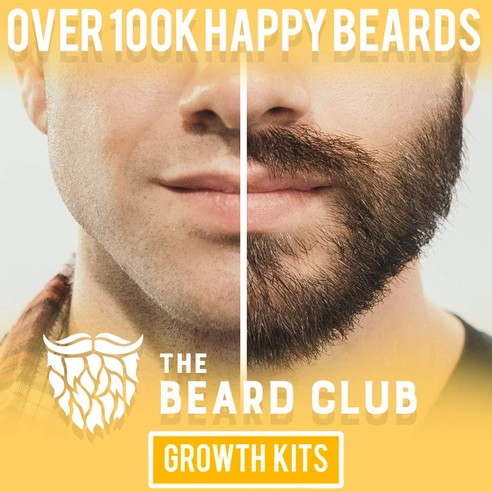 Advanced Beard Growth Kit | The Beard Club | Growth Vitamins, Beard Oil, Shampoo, Beard Spray, Comb, and Brush by The Beard Club (Image #1)