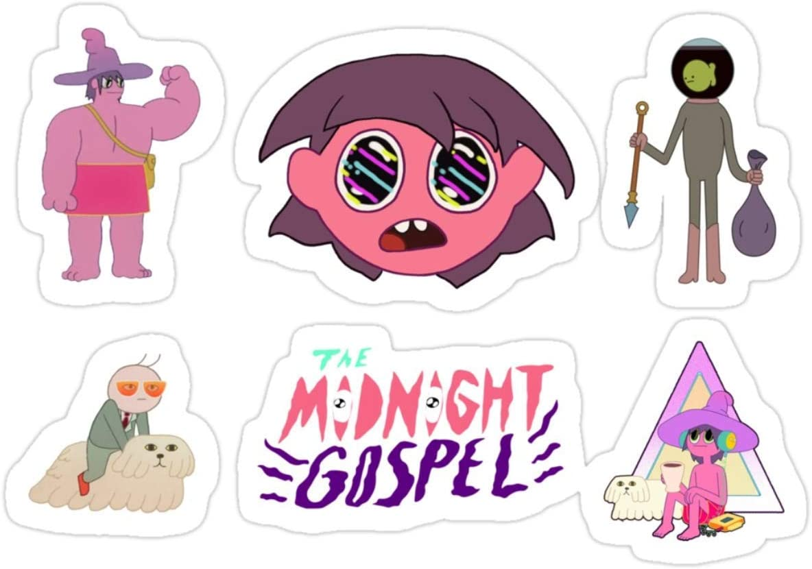 Stickers Sticker Pack 6pcs The Midnight Gospel 3x4 Inch Water Bottle Decals (3 Pcs/Pack)