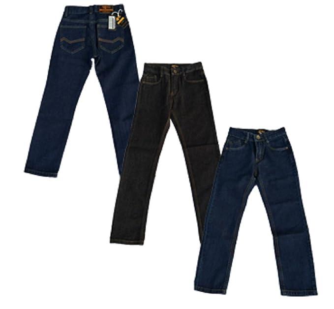 0f7b31c11bb Designer Boys Jeans Adjustable Waist Trousers Black Blue Denim Wash Age 2 3  4 5 6