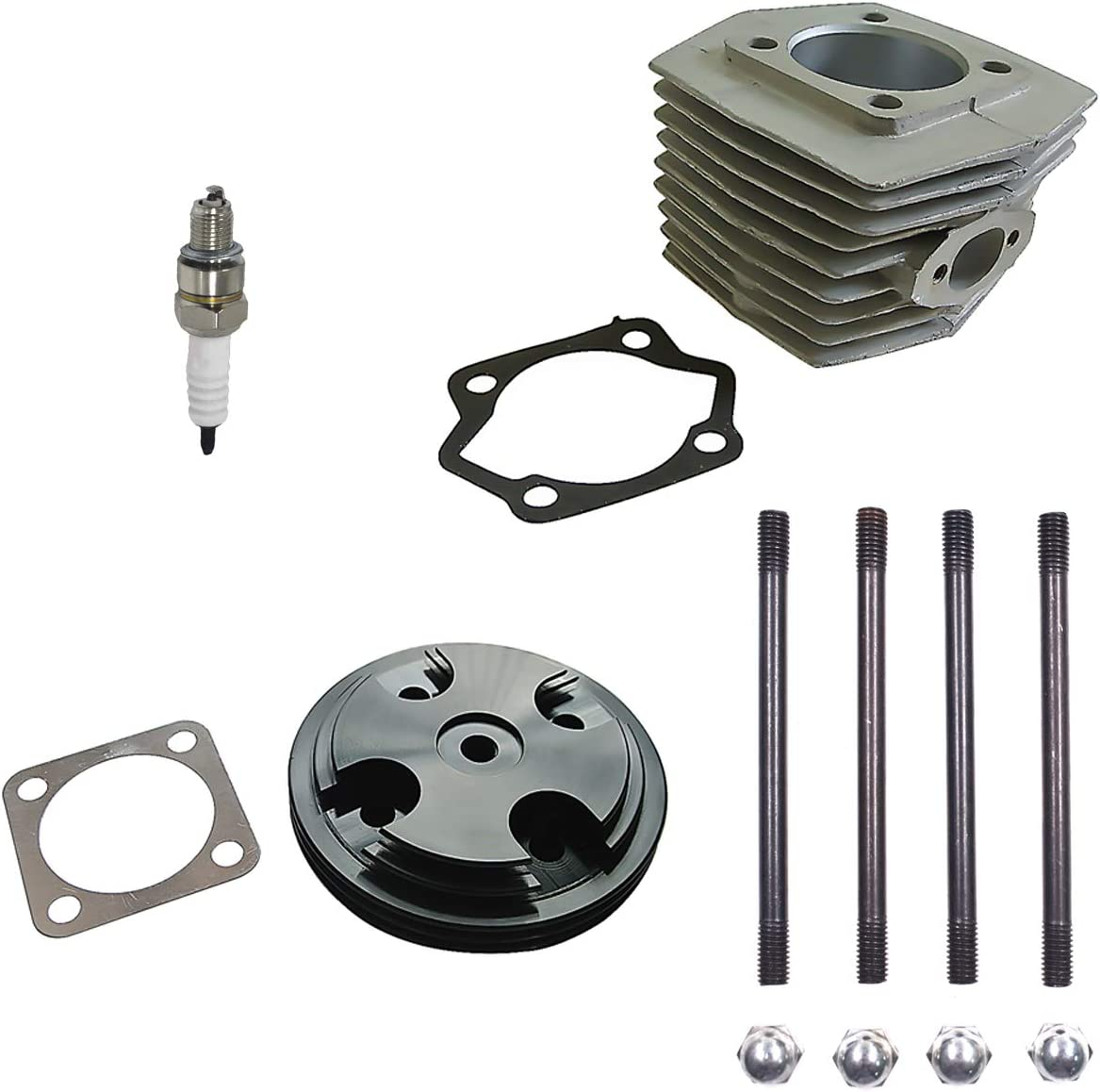 CNC Black Cylinder Head Cover/&Cylinder/&Piston fit for 80cc Motorized Bike New
