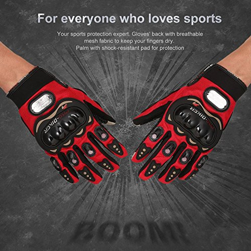 PRO BIKER Full Finger Motorcycle Gloves With Touch Screen Design Outdoor Riding Gloves Knight Moto Motorbike Racing Gloves(Color black&red)(Size:XL)