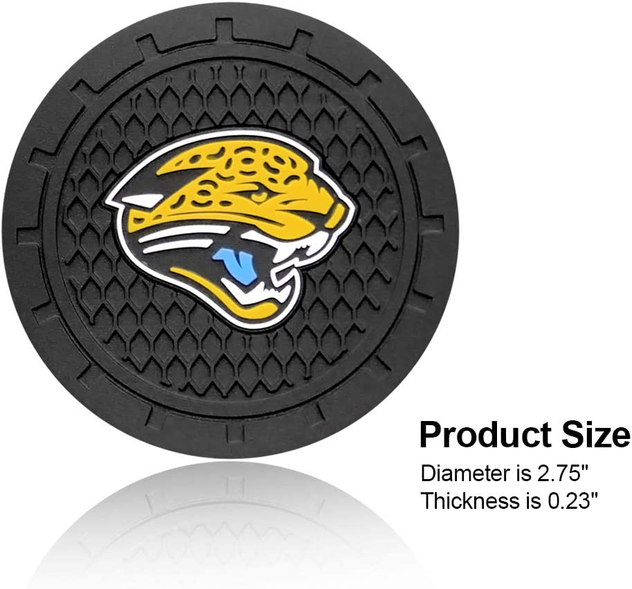 Wall Stickz wesport 2.75 Inch Diameter Oval Tough Car Logo Vehicle Travel Auto Cup Holder Insert Coaster Can 2 Pcs Pack Denver Broncos