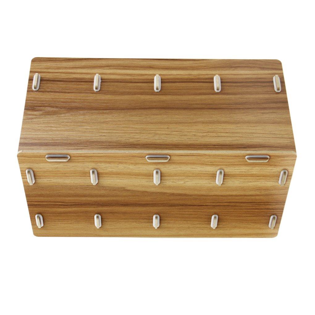Ripiano in legno pieghevole a 4 sezioni 1 ripiano portaoggetti per esposizione mensola portaoggetti contenitore portadocumenti per la conservazione di documenti legno