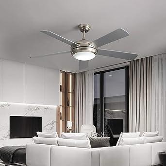 Ventilador de techo de bajo consumo con iluminación LED regulable, 122 cm, incluye mando a distancia, clase energética A+, color blanco: Amazon.es: Iluminación