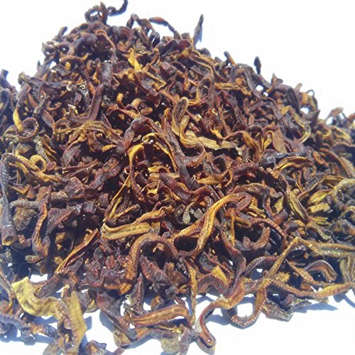 Freeze Dried Earthworms - Perfect for Large Tropicals, Pond Fish, ALL Turtles...1/8-lb