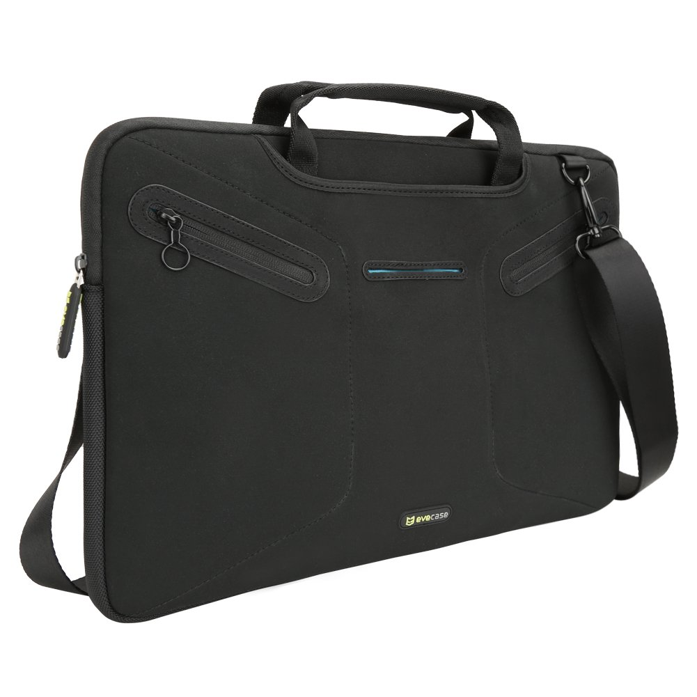 70%OFF Evecase Multi-functional Carrying Messenger Case with Handle and Shoulder Strap for 15 - 15.6inch Laptops - Black