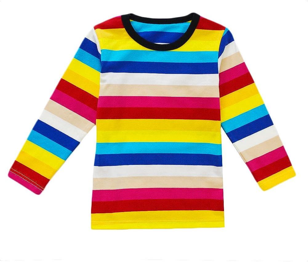 Little Girls Underwear Long John Set Cotton Breathing Pajama Crewneck Top and Bottom 2PC Set, 2-6yrs