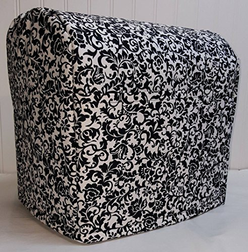 Penny's Needful Things Black & White Floral Damask Cover Compatible for Kitchenaid Stand Mixer (All Floral Damask, 4.5/5qt Tilt Head)