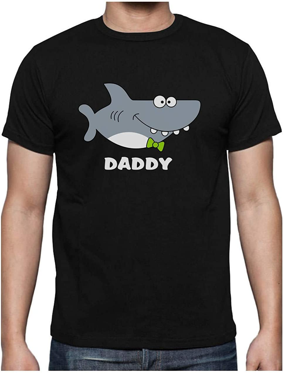 Green Turtle T-Shirts Camiseta para Hombre - Regalos para Padres, Regalos para Papá Primerizo - Daddy Shark -
