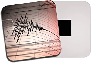 Destination Vinyl Ltd Seismograph Earthquake Machine Fridge Magnet - Geology Volcano 13247
