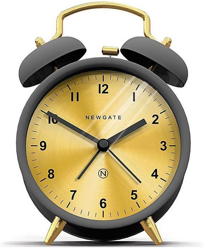 Newgate Charlie Bell Alarm Clock, Gravity Grey