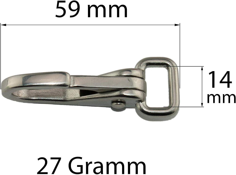 Grandes Brida mosquet/ón de acero inoxidable//recto vertebral//3/Tama/ños