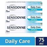 Sensodyne Sensitive Toothpaste, Daily Care Original, 75 ml, Pack of 3