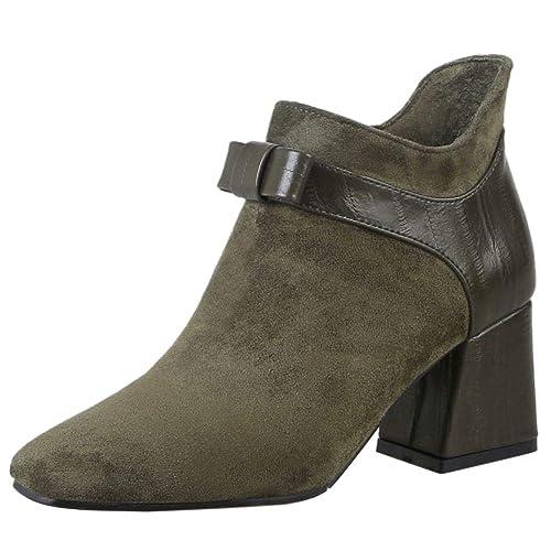 Lydee Mujer Moda Botines Botas Dulce Arco Botas Zipper: Amazon.es: Zapatos y complementos