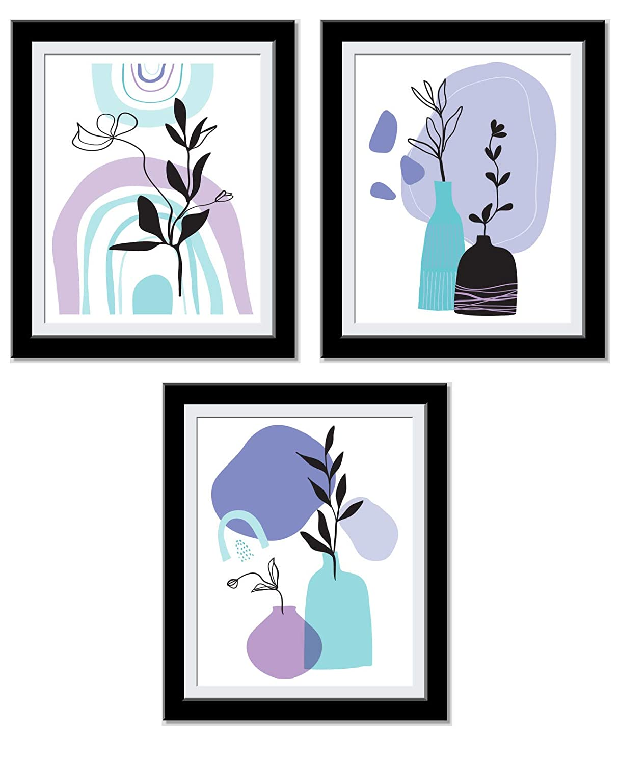 Boho Wall Decor - Posters For Room Aesthetic - Abstract Art - Chic Minimalist Decor - Cute, Trendy Art Prints - House warming, Anniversary Gifts For Her - 8X10 Unframed…