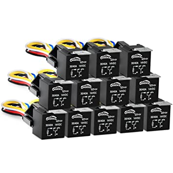 Amazoncom GOOACC Pin A V SPDT Automotive Relay Harness - 5 pin relay socket