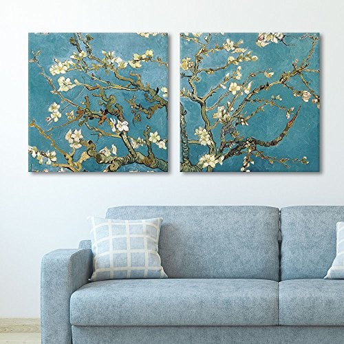 2 Panel Square Almond Blossom by Vincent Van Gogh Gallery x 2 Panels
