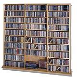 Leslie Dame CDV-1500 High Capacity Oak Veneer Multimedia Cabinet, Oak