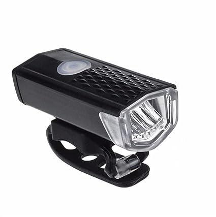 Bicicleta Luz delantera Sannysis USB Recargable bicicleta luz led frontal Impermeable linterna delantera con 3 Modos
